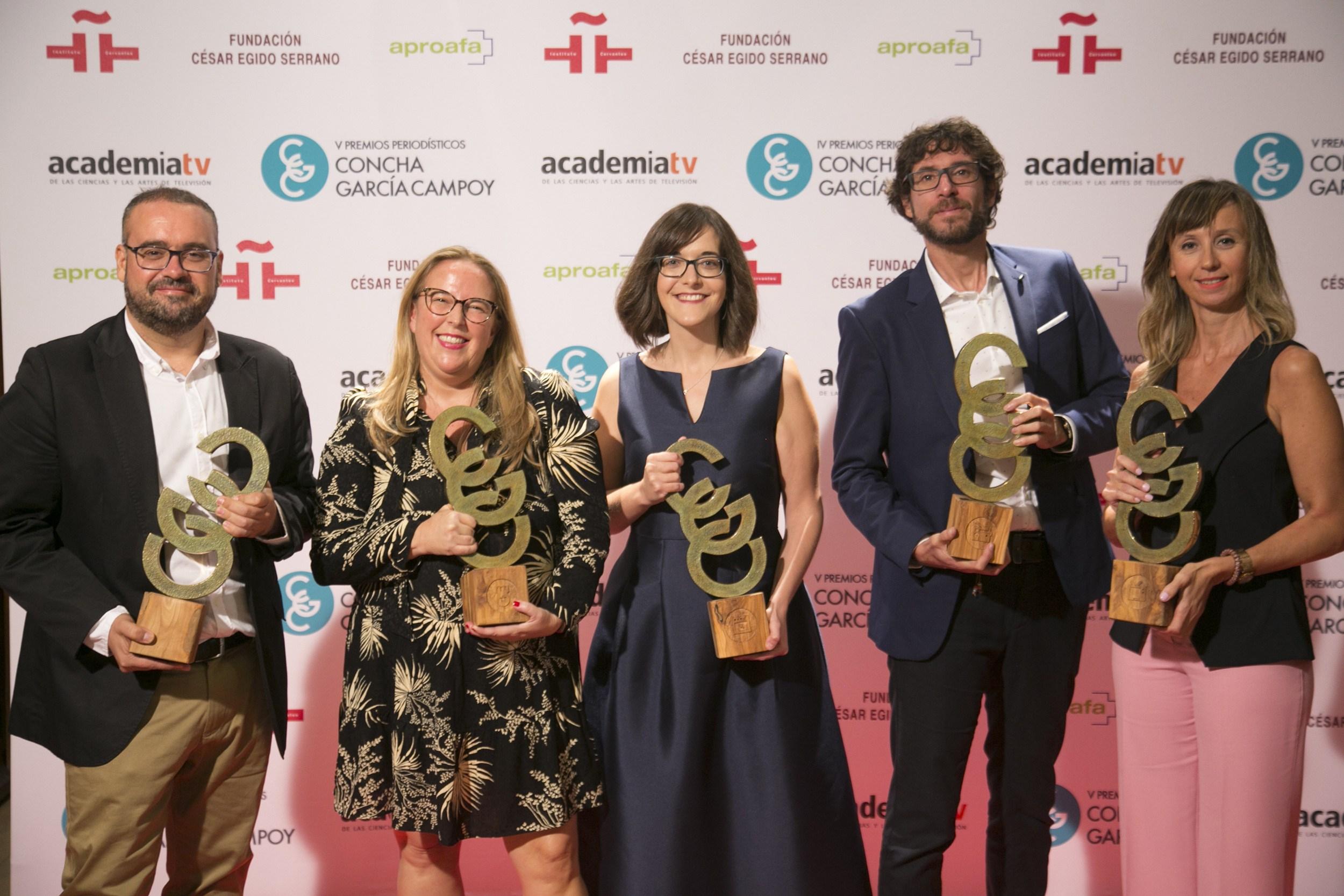 Jorge Pastor, Patricia Fernández de Lis, Ángela Bernardo, Mario Viciosa y Amparo Rey